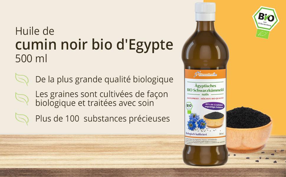 Ägyptisches Bio-Schwarzkümmelöl 500 ml