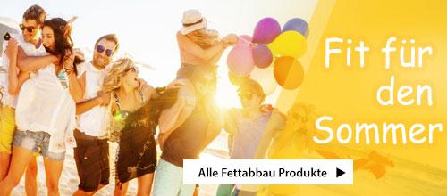 Fit für den Sommer 2016 - Alle Fettabbau Produkte auf einem Blick
