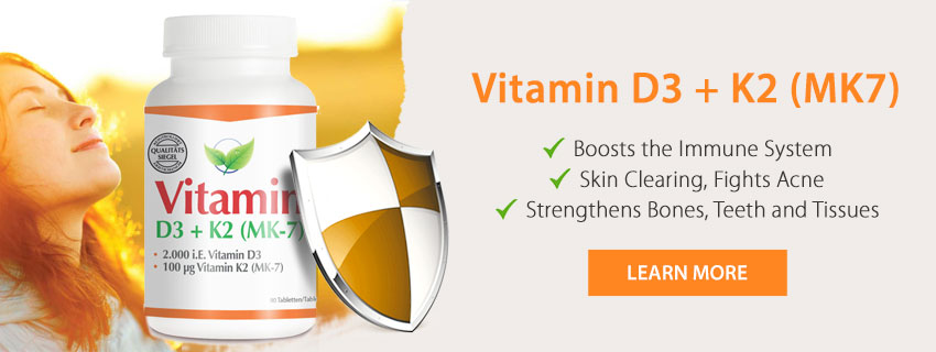 Fitnessfood Vitamin D3 + K2 (MK7)