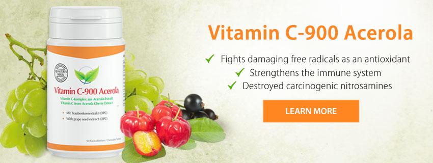Fitnessfood Vitamin C-900 Acerola