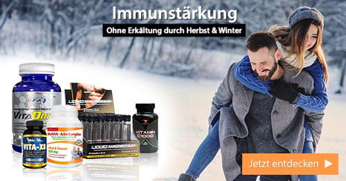 Jetzt Immunsystem stärken - mit Produkten von Fitnessfood®!