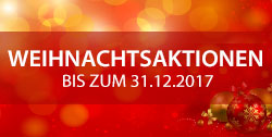 Weihnachtsaktionen - bis zum 31.12.2017