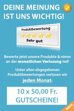 Fitnessfood Verlosung - Wir verlosen jeden Monat 10 x 50,00 Fr. Gutscheine!